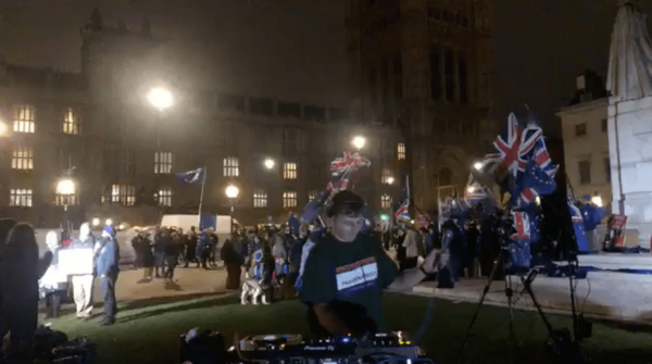 "Watch DJ SUAT livestream a ""Brexit DJ set"" outside of the Houses of Parliament"