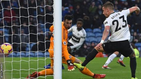 No shots on target but Burnley score twice to beat Fulham in relegation tussle