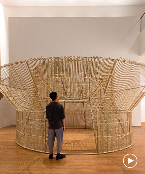 artist cheng tsung feng builds another fish trap house of bamboo in shenzhen