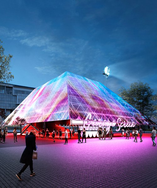 holographic pyramid by syndicate chosen for garage museum's summer cinema pavilion