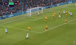 Video: Manchester City go 3-0 up vs Wolves as Kevin De Bruyne cross is deflected in