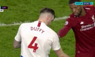 Video: Some Liverpool fans noticed this hilarious moment from Reds star near the end of Brighton win