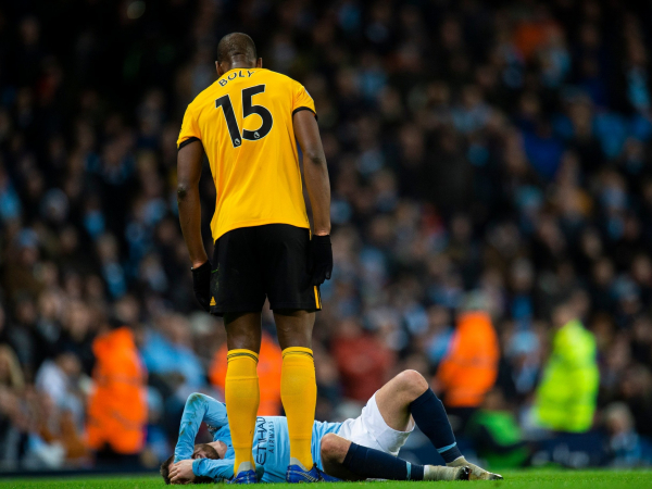 Manchester City vs Wolves: Willy Boly apologises to Bernardo Silva for red card tackle