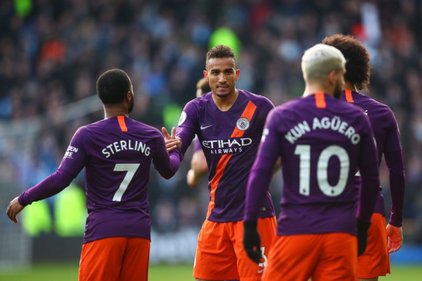 Manchester City reach landmark against Huddersfield after deflected Danilo strike