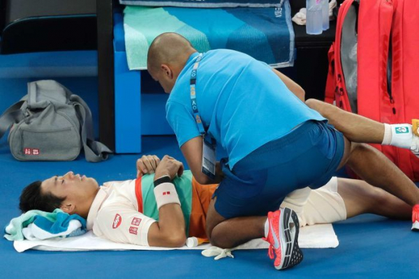 Leg injury forces Nishikori out of Australian Open against Djokovic