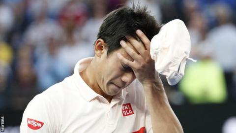 Djokovic into Australian Open semis as Nishikori quits
