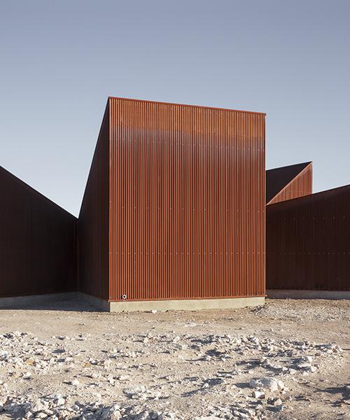 corten steel visitors center punctuates the vast dryness of chile's atacama desert
