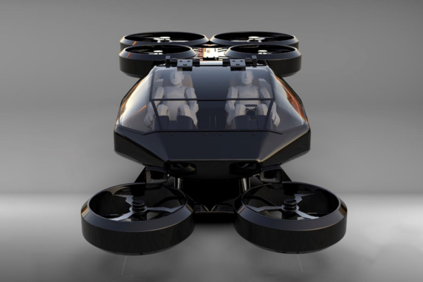 This car-sized two-seater VTOL can take off and land directly in parking slots