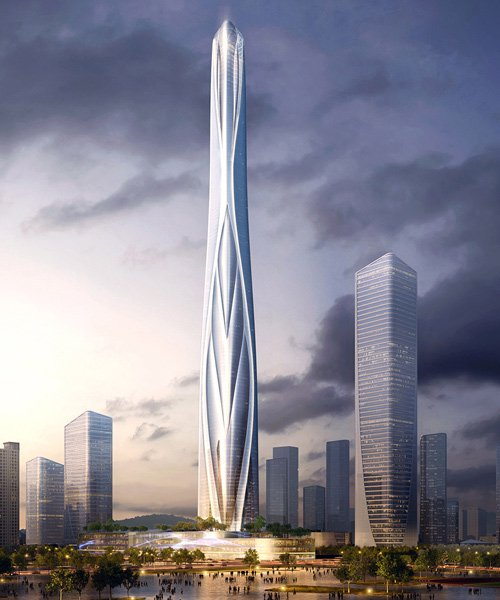 china's tallest building: AS+GG reveals plans for 700 meter skyscraper
