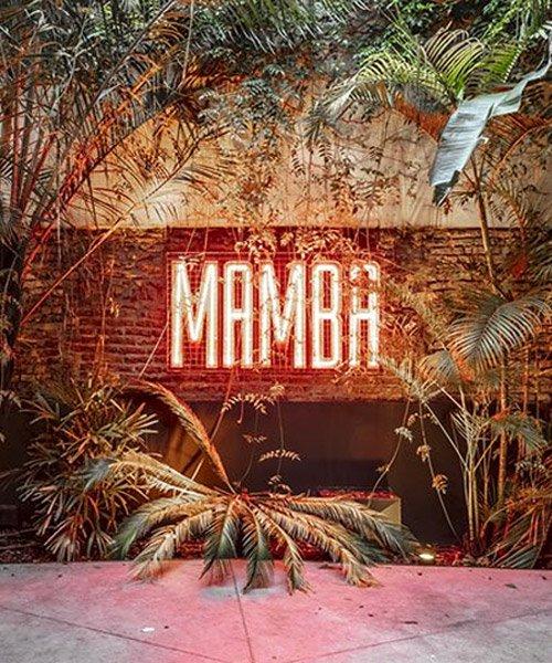 estudio HMA's mamba bar fuses oxidised iron tones with greenery inbuenos aires
