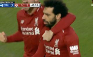 Video: Mohamed Salah breaks the deadlock for Liverpool against a resilient Brighton