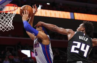 Hield beats buzzer, lifts Kings to 103-101 win over Pistons