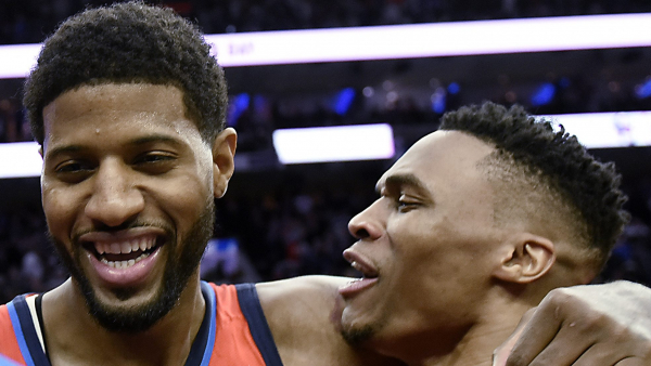Paul George hits game winner, lifts Thunder past 76ers 117-115