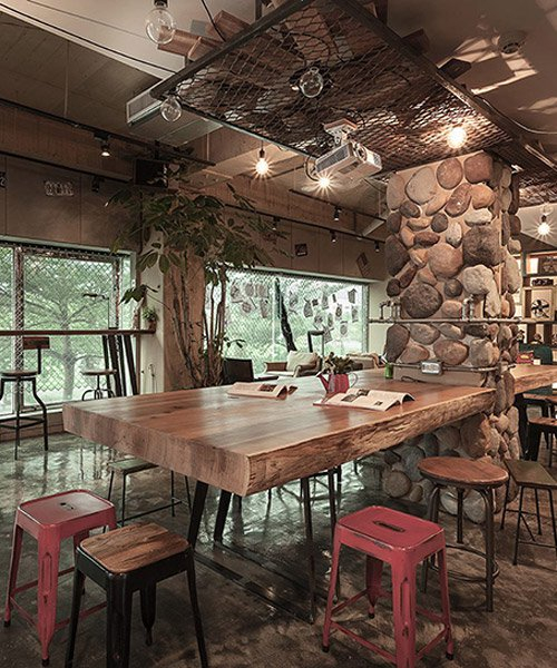 PL interior design recycles materials to create hostel in taiwan