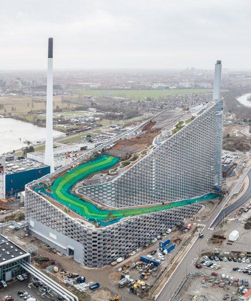 bjarke ingels group's urban ski slope captured by rasmus hjortshøj ahead of 2019 opening