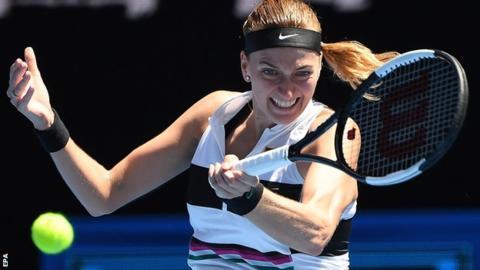 Kvitova fights back to progress to last 16 in Dubai