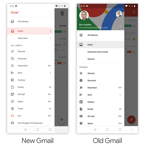 Gmail Big Redesign for Android and iOS