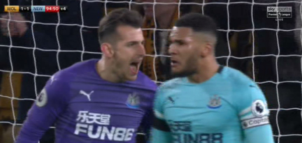 Rafa Benitez reveals what was said in row between Martin Dubravka and Jamaal Lascelles after Wolves snatch late draw against Newcastle United