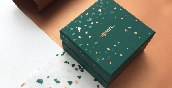 Square Chocolate Packaging Design