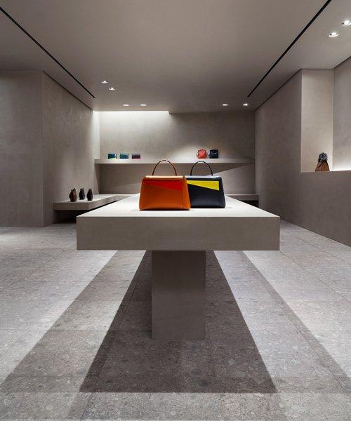 john pawson transforms valextra's milan store with monochromatic, gallery-like intervention