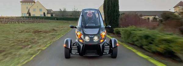 arcimoto unveils their three-wheeled, electric, fun-utility-vehicle