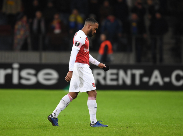Alexandre Lacazette: Arsenal striker handed three match ban by Uefa for BATE Borisov red card