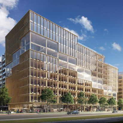 """3XN unveils """"tallest timber office building"""" in North America"""