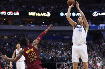 Cavaliers fall to Mavericks 121-116 as Nowitzki closes in on Chamberlain