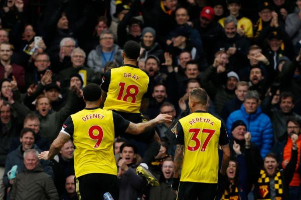 Watford 2 Crystal Palace 1: Andre Gray the super sub as Javi Gracias Hornets reach FA Cup semi-finals