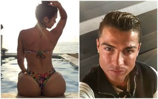 Photo gallery: HOT model Alexandra Mendez who agreed to let Cristiano Ronaldo 'bite her bum' if he scored