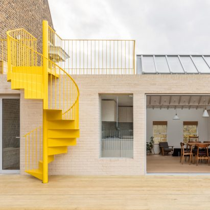 Dezeen Weekly features a yellow spiral staircase and an €11 million car