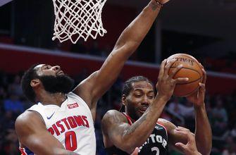 Pistons beat Raptors 101-107 to complete season sweep.