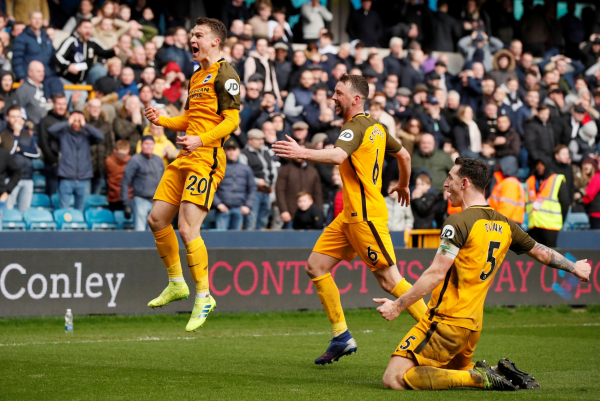 Brighton seal FA Cup semi-final spot after beating Millwall on penalties at The Den