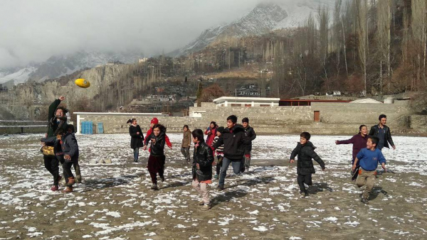 Is this the coldest footy clinic on the planet?