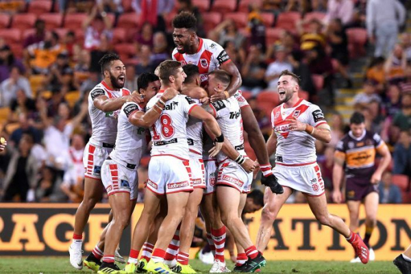 Dragons snatch NRL victory against Broncos with late field goal