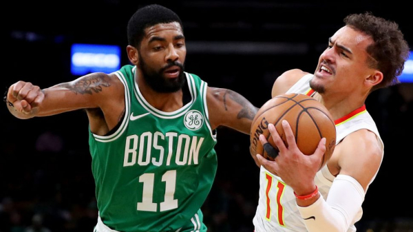 Kyrie Irving, Celtics survive late charge by Hawks in 129-120 win