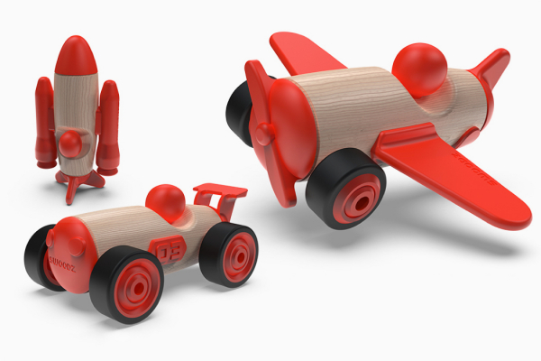 Inspirational toys, made from inventive materials