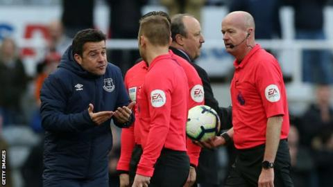 Everton manager Marco Silva fined £12,000 by FA for behaviour at Newcastle