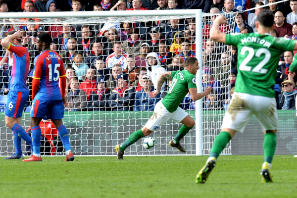 Crystal Palace 1 Brighton 2: Anthony Knockaert scores stunning winner after escaping first half red card