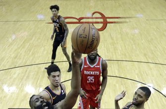 Harden's 41 points lead Rockets over Suns 108-102