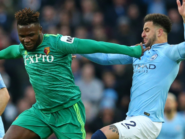 'A game to learn from' – Isaac Success reacts to Watford's loss to Manchester City