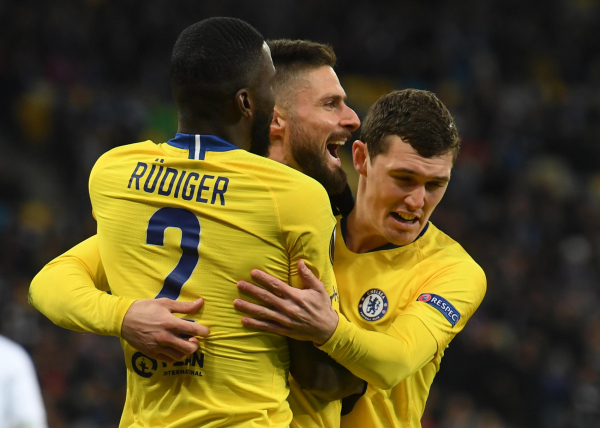 Dynamo Kiev 0 Chelsea 5: Olivier Giroud nets hat-trick as Blues ease into Europa League quarter-finals