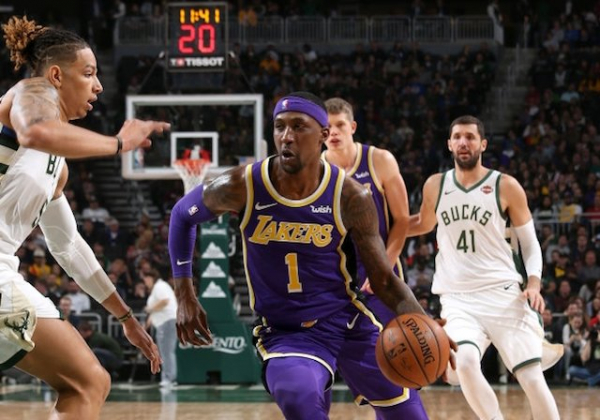 Without LeBron James, Kentavious Caldwell-Pope Keeps Lakers Competitive In Loss To Bucks