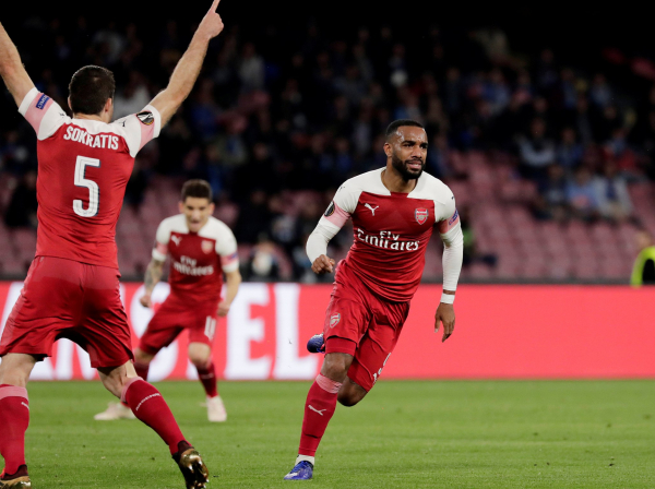 Alexandre Lacazette goal: Watch Arsenal forwards sublime free-kick against Napoli in Europa League