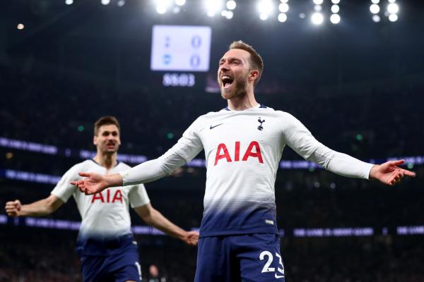 Tottenham 1 Brighton 0: Christian Eriksen nets brilliant late winner as Spurs seal vital win in top-four race