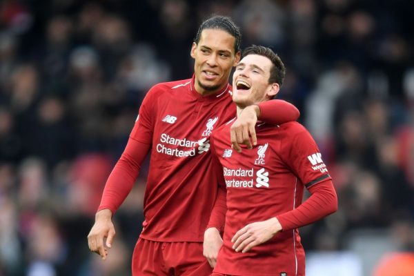 Andrew Robertson insists that Liverpool are enjoying their title battle with Man City