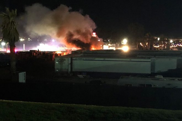 Fire breaks out at the Coachella campgrounds on the first night of its 2019 edition