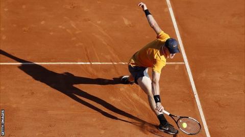 Monte Carlo Masters: Kyle Edmund beaten by Diego Schwartzman in first round