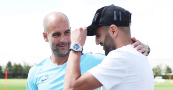 Man City boss Guardiola responds to Mahrez exit reports