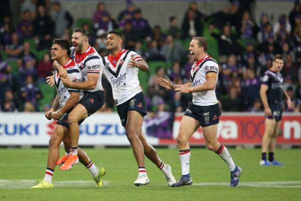 Roosters nearly throw it away, but beat Storm in golden point